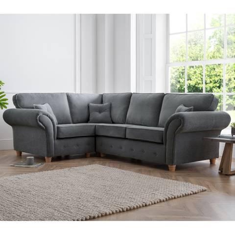 The Great Sofa Company The Carter 1 Corner 2 Sofa, Manhattan Charcoal
