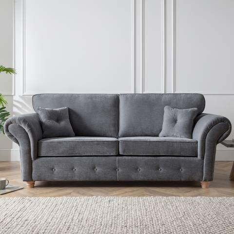 The Great Sofa Company The Carter 3 Seater Sofa, Manhattan Charcoal