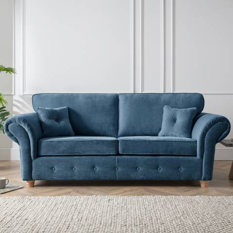The Great Sofa Company The Carter 3 Seater Sofa, Manhattan Navy