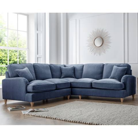 The Great Sofa Company The Swift 2 Corner 2 Sofa, Manhattan Navy