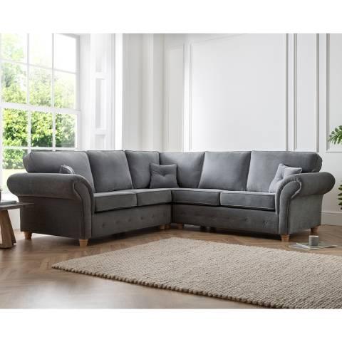 The Great Sofa Company The Carter 2 Corner 2 Sofa, Manhattan Charcoal