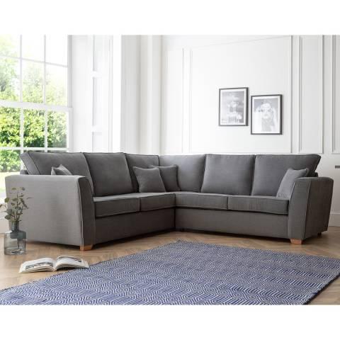 The Great Sofa Company The Bliss 2 Corner 2 Sofa, Manhattan Charcoal