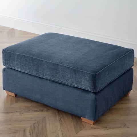 The Great Sofa Company The Bliss Footstool, Manhattan Navy