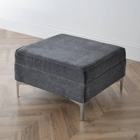 The Great Sofa Company The Douglas Footstool, Manhattan Charcoal