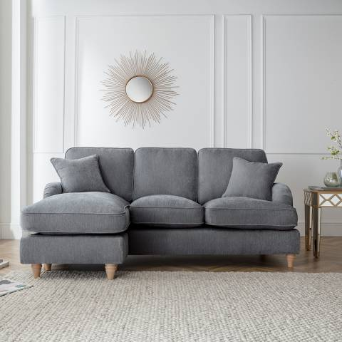 The Great Sofa Company The Swift Left Hand Chaise Sofa, Manhattan Charcoal