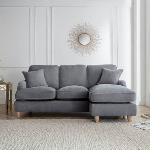 The Great Sofa Company The Swift Right Hand Chaise Sofa, Manhattan Charcoal
