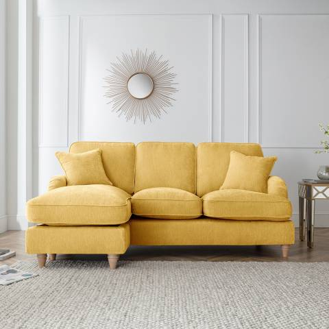 The Great Sofa Company The Swift Left Hand Chaise Sofa, Manhattan Gold