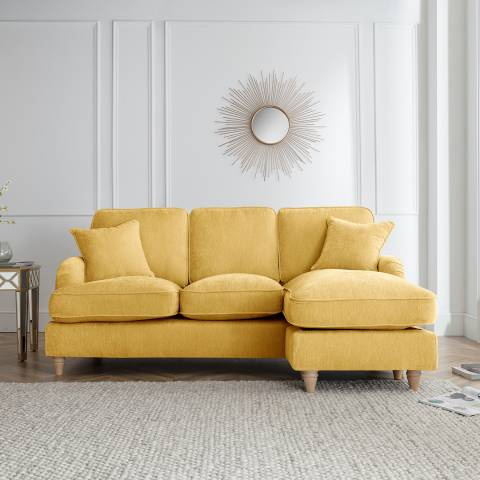 The Great Sofa Company The Swift Right Hand Chaise Sofa, Manhattan Gold