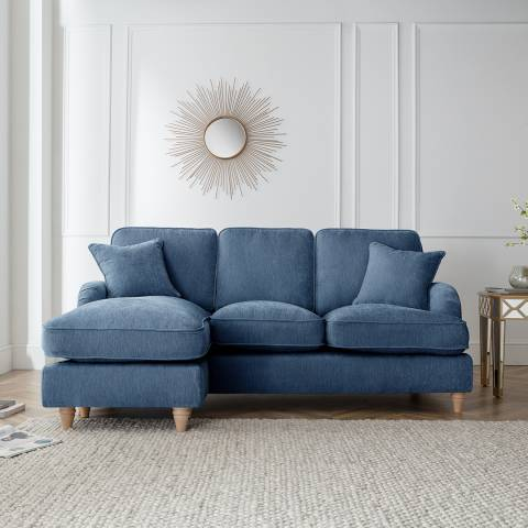 The Great Sofa Company The Swift Left Hand Chaise Sofa, Manhattan Navy