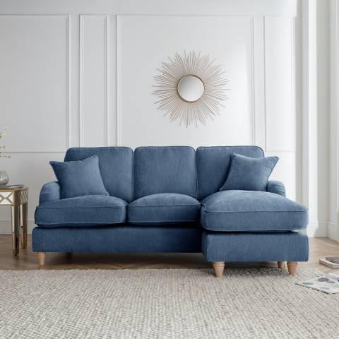 The Great Sofa Company The Swift Right Hand Chaise Sofa, Manhattan Navy