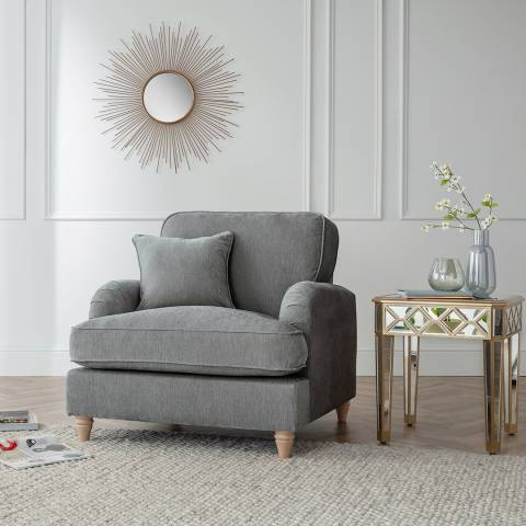 The Great Sofa Company The Swift Armchair, Manhattan Charcoal