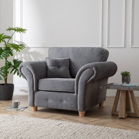 The Great Sofa Company The Carter Armchair, Manhattan Charcoal