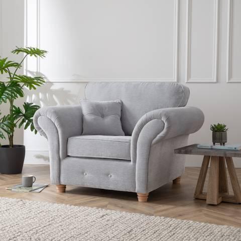 The Great Sofa Company The Carter Armchair, Manhattan Ice