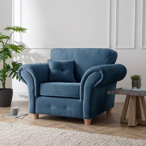 The Great Sofa Company The Carter Armchair, Manhattan Navy