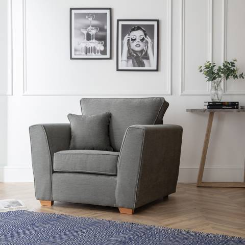 The Great Sofa Company The Bliss Armchair, Manhattan Charcoal