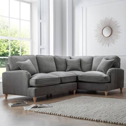 The Great Sofa Company The Swift 2 Corner 1 Sofa, Manhattan Charcoal