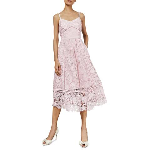 Ted Baker Pale Pink Valens Lace Midi Dress