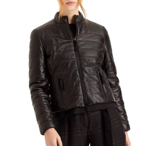 Amanda Wakeley Black Quilted Leather Jacket
