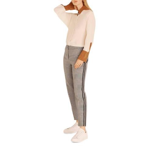 Amanda Wakeley Midnight/Multi Check Peg Trousers