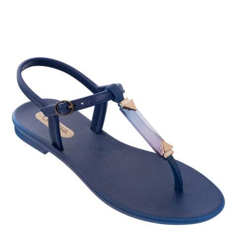 Grendha Crystal Sandal Navy