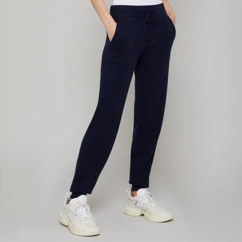 N°· Eleven Navy Cashmere Luxe Joggers
