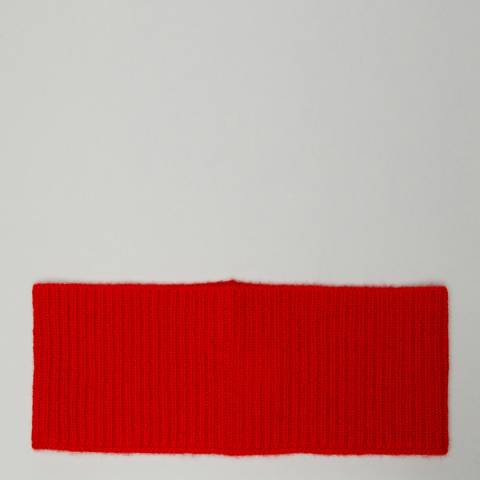 N°· Eleven Red Cashmere Ribbed Headband