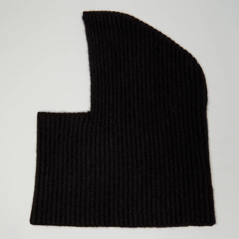 N°· Eleven Black Cashmere Ribbed Balaclava