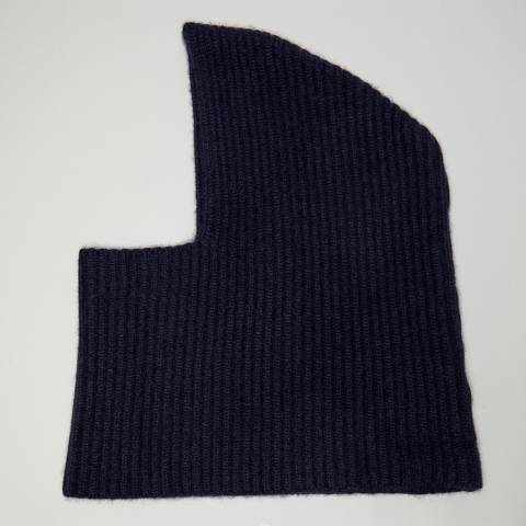 N°· Eleven Navy Cashmere Ribbed Balaclava