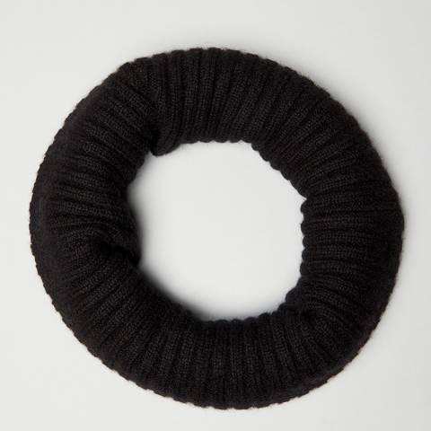 N°· Eleven Black Cashmere Ribbed Snood
