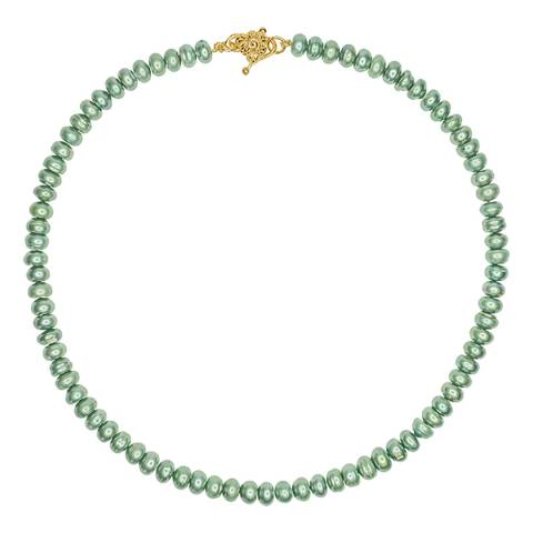 Timeless Pearly Green Pearl Necklace