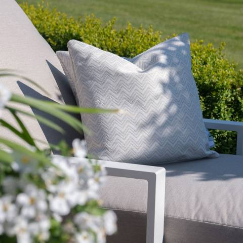 Maze Rattan Set of 2 Polines Grey Fabric Scatter Cushions