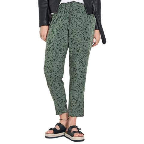 hush Khaki Cropped Easy Trousers
