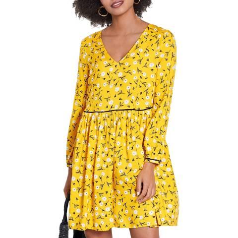 hush Yellow Floral Anouk Mini Dress