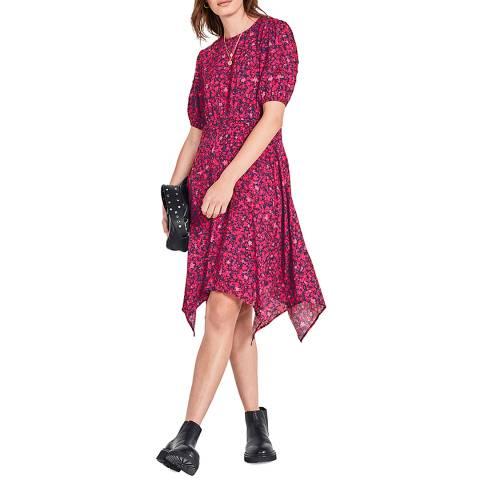 hush Pink Floral Josiane Mini Dress