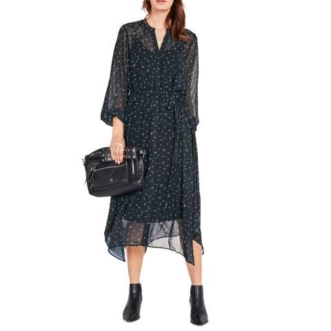 hush Multi Roxy Chiffon Midi Dress