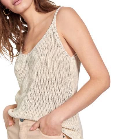hush Beige Elizabeth Knitted Vest Top