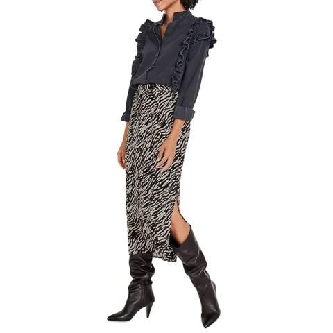 hush Multi Zebra Brooks Layered Midi Skirt