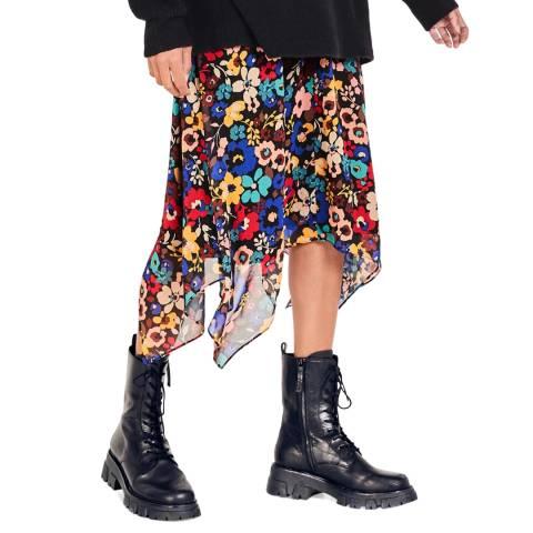 hush Multicoloured Floral Mary Midi Skirt