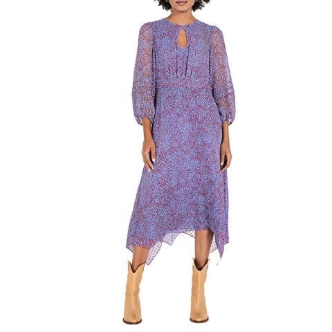 hush Multi Animal Elisabeth Pintuck Midi Dress