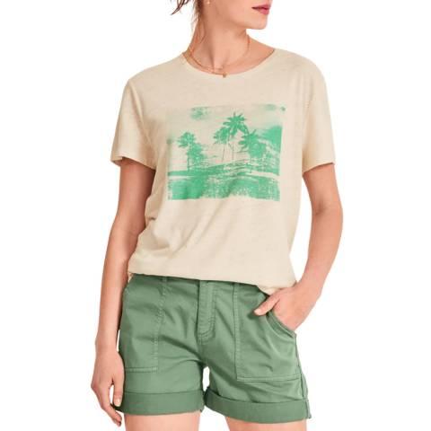 hush Pink Printed Palm Tree T-Shirt