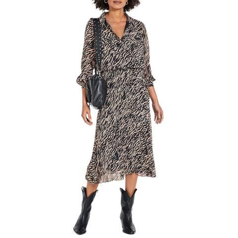 hush Multi Zebra Rachelle Maxi Dress