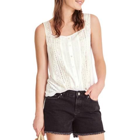 hush White Vintage Lace Vest