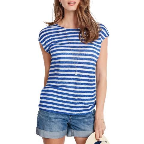 hush Stripe Sarina Linen Blend Top