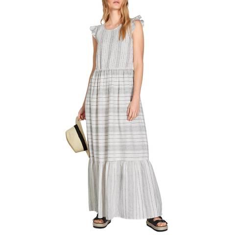 hush Stripe Fonda Linen Blend Dress