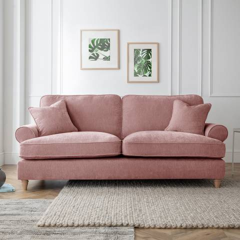 Cozey The Bromfield 3 Seater Sofa, Manhattan Plum