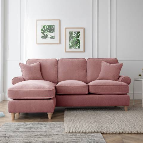 Cozey The Bromfield Left Hand Chaise Sofa, Manhattan Plum