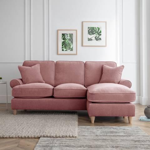 Cozey The Bromfield Right Hand Chaise Sofa, Manhattan Plum