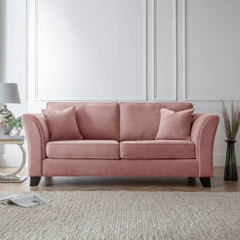 The Great Sofa Company The Knight 3 Seater Sofa, Manhattan Plum