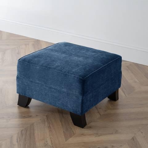 The Great Sofa Company The Knight Footstool, Manhattan Navy