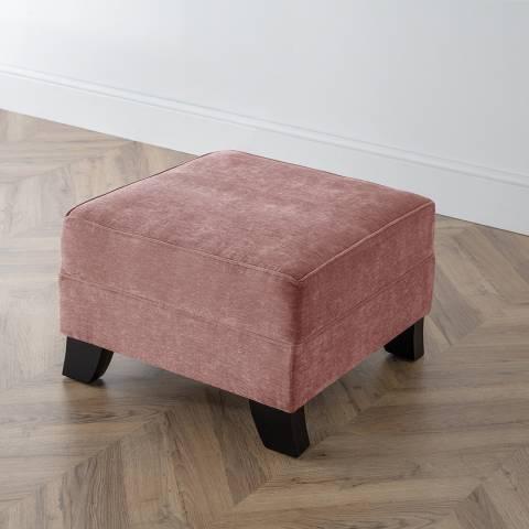 The Great Sofa Company The Knight Footstool, Manhattan Plum